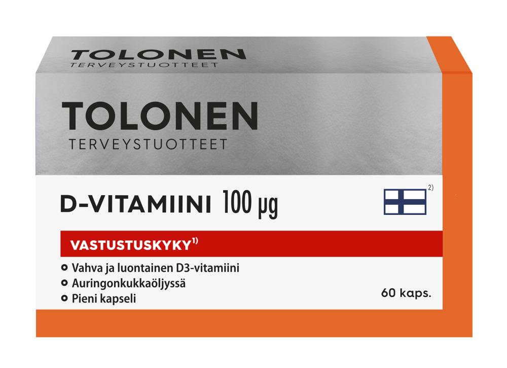 f2740e671 TRI TOLONEN D-VITAMIINI 100 MCG 60 KAPS - Suomiapteekki.fi