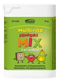 MULTIVITA JUNIORI MIX MONIVITAMIINI 30 PURUTABL