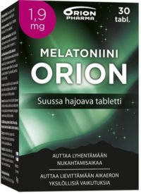 MELATONIINI ORION 1,9 MG 30 kpl